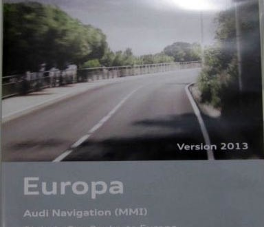 2013 Audi MMI 2G Europe DVD Maps