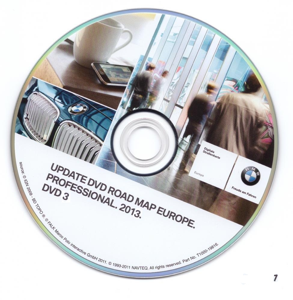 2013 bmw navigation dvd road map europe professional 3 dvd. Black Bedroom Furniture Sets. Home Design Ideas