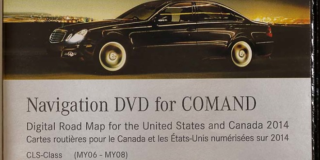 2014 Mercedes Benz North America Canada Map DVD Harman Becker Comand NTG1 V.