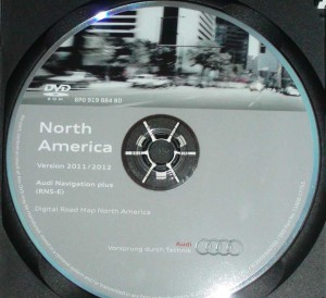 2012 RNS-E America_Canada NAvigation Maps Audi