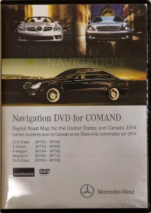 2014 Mercedes-Benz North America-Canada Map DVD Harman Becker Comand NTG1 Version 13
