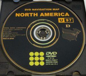 Dvd Navigation Map North America Toyota on